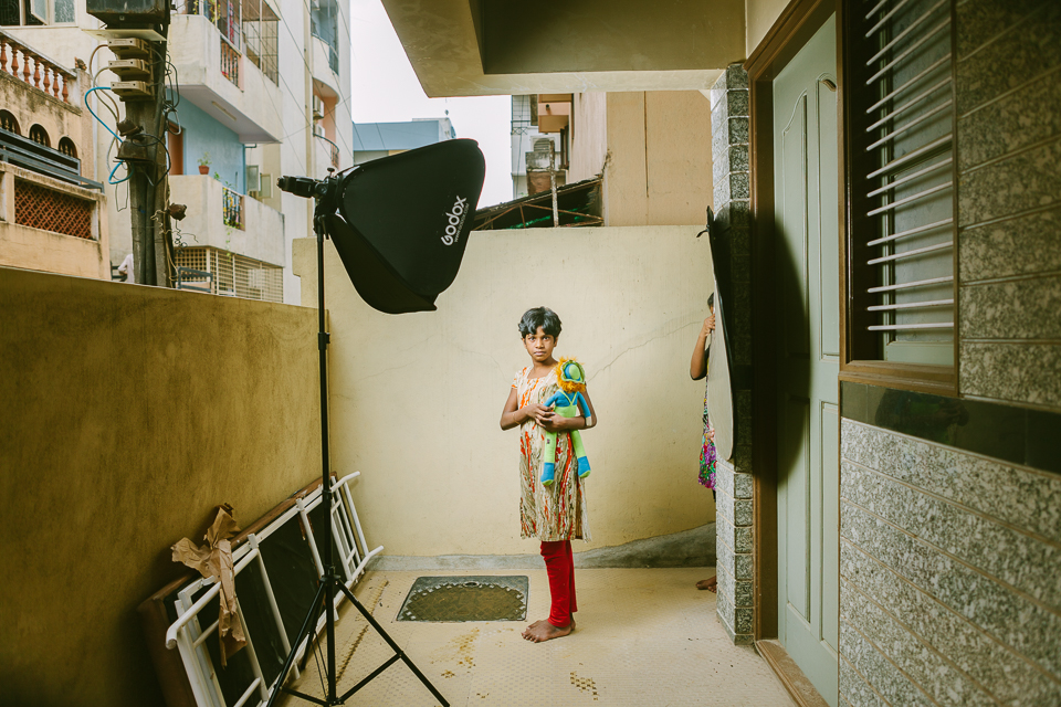 BTS from a portrait shoot for an NGO. Bangalore. July 2016